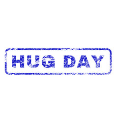 Hug day rubber stamp vector