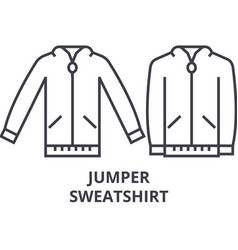 Jumper sweatshirt line icon outline sign linear vector