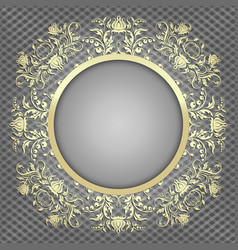 luxury background for design with gold pattern vector image vector image