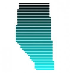 map of Alberta vector image vector image