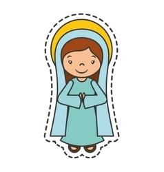 Mary vigin manger character vector