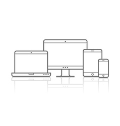 Multi Device Icons for presentation vector image vector image