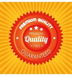 Premium quality guaranteed orange sticker vector
