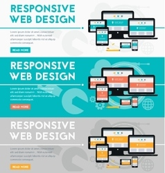 Responsive webdesign concept banner vector image