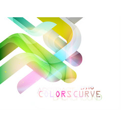 Translucent curve colors vector