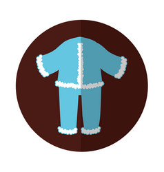 Typical winter costume icon vector