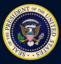 Us presidential seal color vector