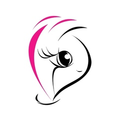 Emblem for fashion and beauty industry vector