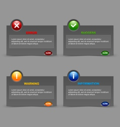 Notification windows vector