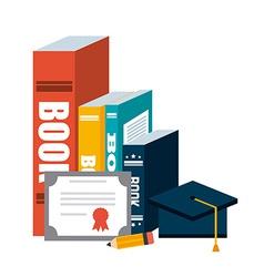 Graduation icon vector