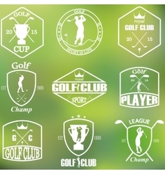Set of vintage golf labels vector