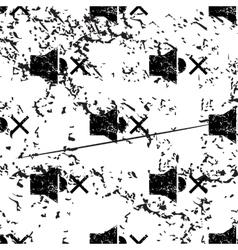 Muted loudspeaker pattern grunge monochrome vector