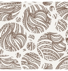 Seamless hand-drawn pattern of contour vector