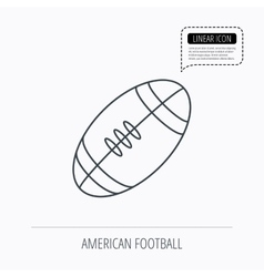 American football icon sport ball sign vector