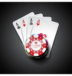 On a casino theme with playing cards vector