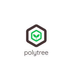 abstract tree logo icon template eco green vector image