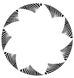 Abstract zebra frame vector image vector image