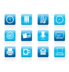 business and office tools icons vector image vector image