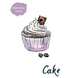 Cake choco vector