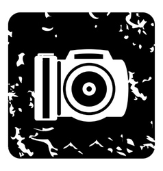 Camera icon grunge style vector
