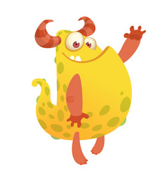 cartoon of an orange fat monster vector image