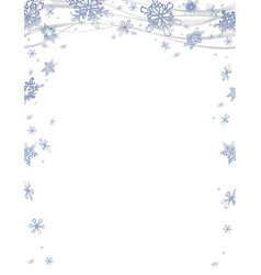 christmas frame with frosty snowflakes vector image