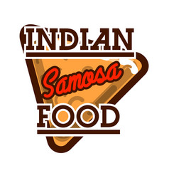 Color vintage indian food emblem vector
