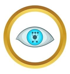 Cyber eye icon vector