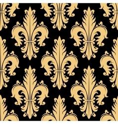 Floral seamless pattern with fleur-de-lis elements vector image vector image