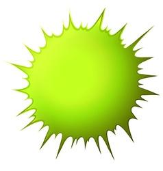 Green splash on white vector image