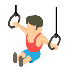 gymnastic rings icon isometric 3d style vector image vector image