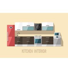 Kitchen interior modern trendy design vector image