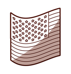 Monochrome silhouette of small flag of the united vector