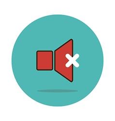 Mute sound icon vector image vector image