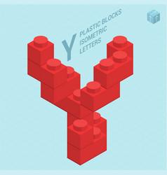 plastic blocs letter y vector image vector image