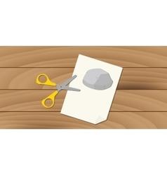 Rock scissors paper game fun play concept vector
