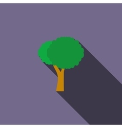 Stylized tree icon flat style vector image