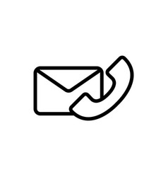 thin line phone envelope icon vector image