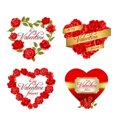 Valentines holiday frames vector image