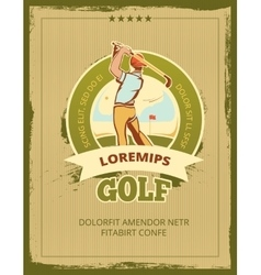 Vintage golf tournament poster vector