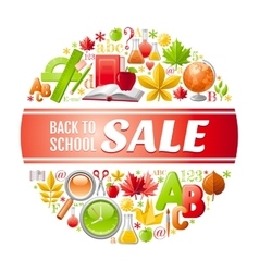 back to school sale icon vector image