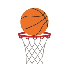 Ball basket basketball score shooting vector