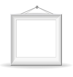 White picture frame vector image