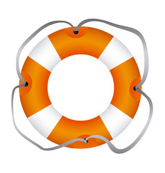 Colorful flotation hoop with lasso vector