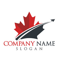 Canada travel logo design vector