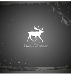 Grunge black reindeer background vector image
