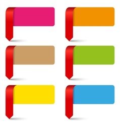 Color empty pointers collection vector