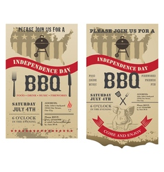 Barbecue independence day vector