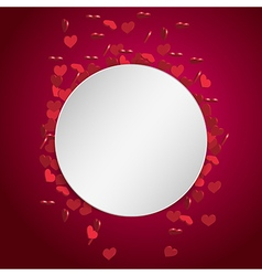 circle valentine background vector image
