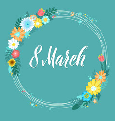 8 march greeting card vector